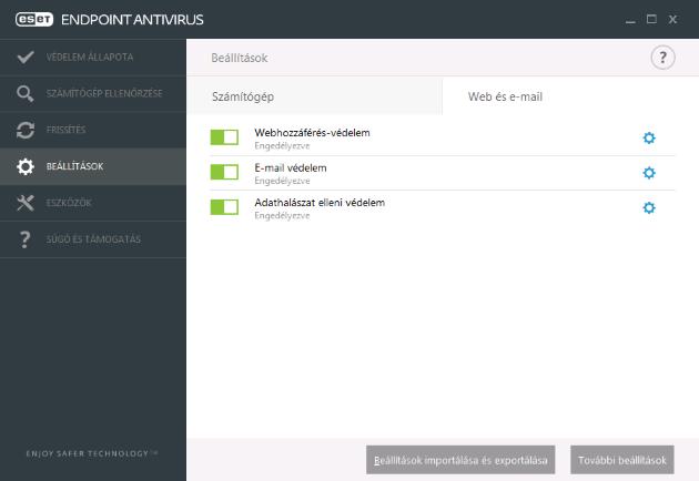 NOD32 antivirus kezelőfelület, ingyen vírusirtó, olcsó vírusirtó, nod32 serial, ESET endpoint antivirus, megbízható vírusirtó, vírusirtó